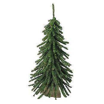 Northlight 2  Potted Downswept Mini Village Pine Medium Artificial Christmas Tree - Unlit