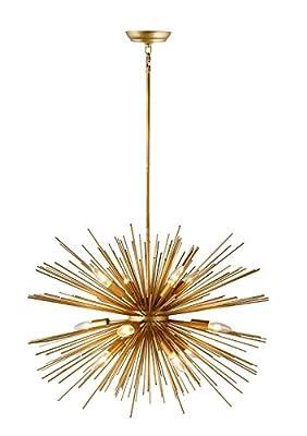 30 Inch Astra Sputnik Satellite Pendant Light Gold Spike Chandelier Starburst Lamp