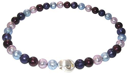 Murano-Kette Collier Perlen Handarbeit echtes Murano-Glas hochwertige Klapp-Schließe Sterling-Silber 925-er Goldschmiede-Arbeit Unikat elegant