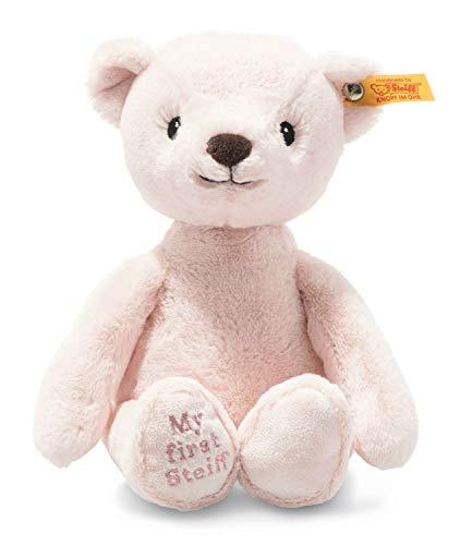 Steiff Soft Cuddly Friends My First Teddy Bear 10', Premium Stuffed Animal, Pink
