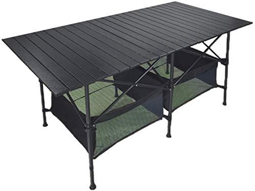 Portable Camping Long Table, aluminium table et sac de transport, Pliable Ultraléger Camping Table, peut être utilisé for pique-nique, Camping, plage, bateau, cuisine, Barbecue, ménage, Sac de nettoya