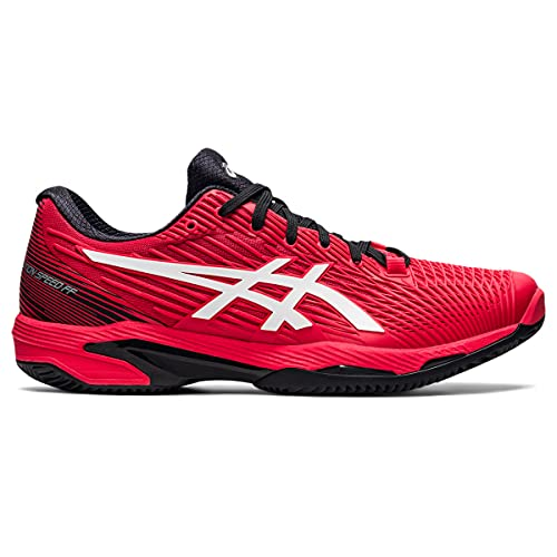ASICS Solution Speed FF Clay, Scarpe da Tennis Uomo, Electric Red/White, 49 EU