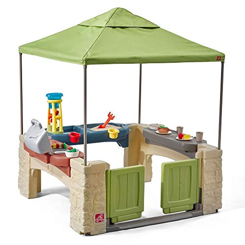 Playtime Patio with Canopy Playhouse
