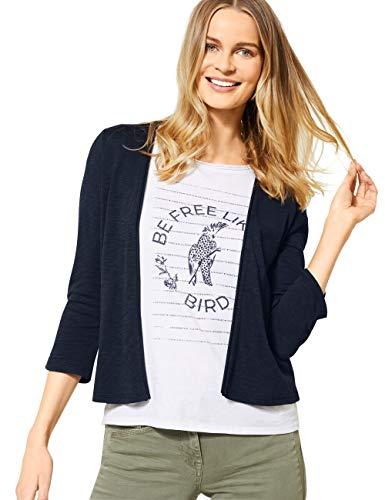 Cecil Damen 314841 T-Shirtjacket Strickjacke, deep Blue, Large