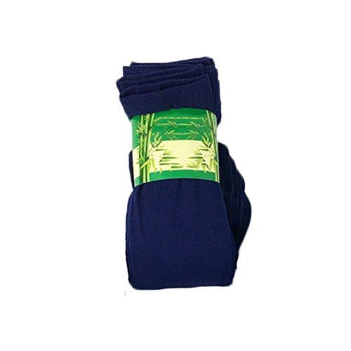 WFZ17 1 par de calcetines de color liso suave y sedosos para hombre