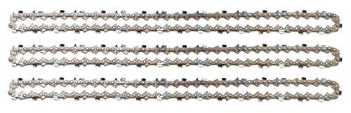 3 tallox cadenas de sierra 3/8' 1,6 mm 66 eslabones 45 cm full-chisel compatible con Stihl