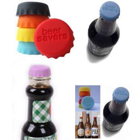 12 pezzi Silicone Tappo della Bottiglia di Birra Capsule Tappi a Corona Si Adatta ad Ogni Bottiglia Tappi Tappo per Vino e Succo Chiusura Tappo della Bottiglia