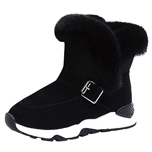 SOMESUN Jungen Mädchen Winter Warme Stiefel Kind Plüsch Wildleder Draussen rutschfest Schneeschuhe Schuhe Weich Freizeit Wasserdicht Winterstiefel Winterschuhe