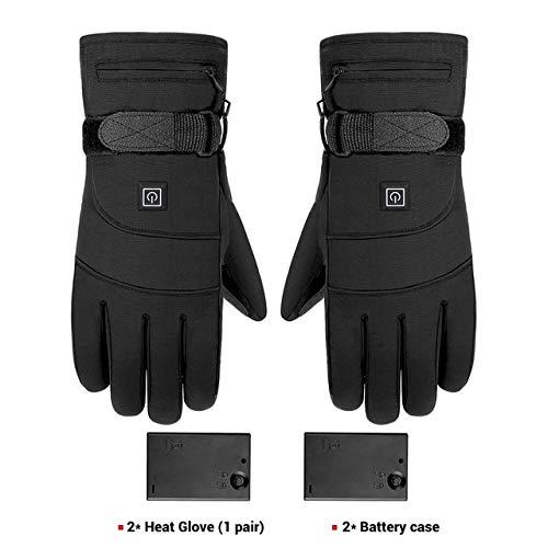 Berrd Winter Motorradhandschuhe wasserdichte Heizung Motorradhandschuhe Handschuhe mit Batterie Reiten Ski - A4