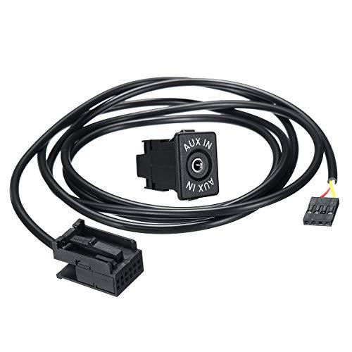 YONGYAO Adaptador de Cable de Audio de 12 Pines a Entrada Auxiliar para BMW Z4 E83 E85 E86 X3 Mini Cooper