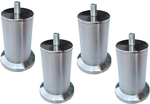 ZJDM 4 pies de Muebles Patas de Muebles Patas de Mesa de Metal de Acero Inoxidable Plataformas Redondas de Repuesto para Muebles Patas de sofá Patas de Escritorio para sofá Muebles de Cama Elevad