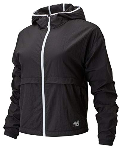 New Balance Impact Run Light Pack Jacket, Black, Large