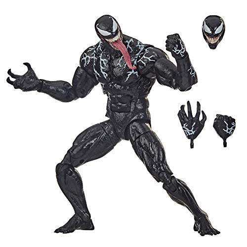 Hasbro Marvel Legends Series Venom - Figura de acción coleccionable (6.0in), diseño premium y 3 accesorios