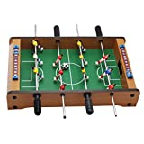 Toygogo Mini Kicker Tischfußball, Kleiner Kinder Tischkicker, Mini Kickertisch Fussballtisch mit 12 Spieler, 34,5x21,5x8 cm