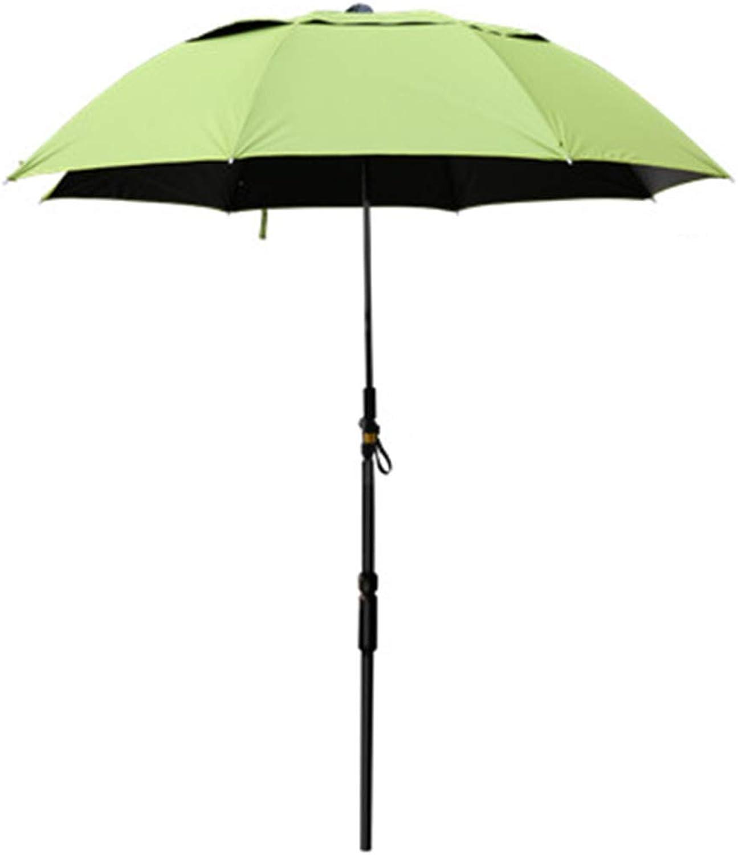 HEYJIE Outdoor Umbrella Leisure Umbrella, 2.2 Meters Wind Resistant Universal Fishing Rainproof Light Carbon Cane Sunscreen Anti-UV Travel Umbrella