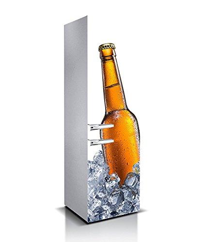 Oedim Vinilo para Frigorífico Cerveza 1,85x60cm   Adhesivo Resistente y de Facil Aplicación   Pegatina Adhesiva Decorativa de Diseño Elegante