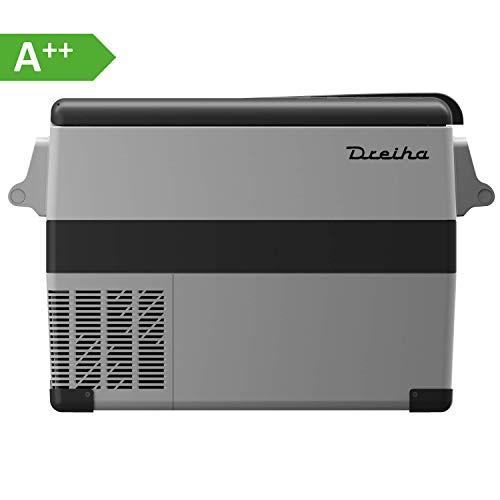 Dreiha CBX45 Kühlbox, elektrische tragbare Kompressor Kühlbox/Gefrierbox 12V/24V und 230V für Auto, LKW, Boot, Camping, Wohnmobil und Steckdose, Kühlung von -20 °C bis +20°C