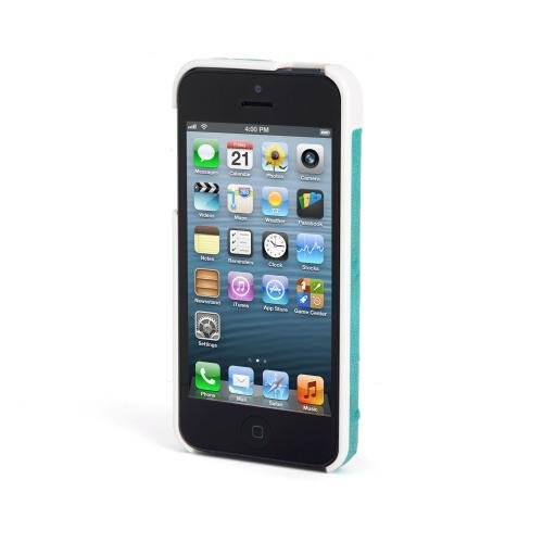 Kensington K39626WW Vesto Leather Texture Hardshell Case for iPhone 5 - 1 Pack - Retail Packaging - Teal Ostrich