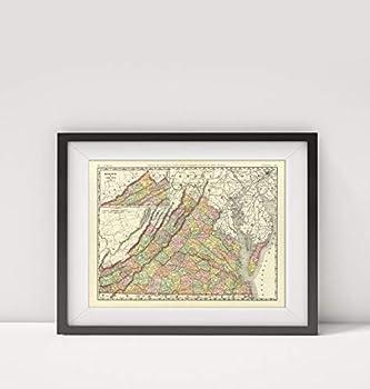 Mapa-Carto LLC 1897 Map of  Virginia Title  Rand McNally & Co s New Business Atlas map of Virginia Copyright 18