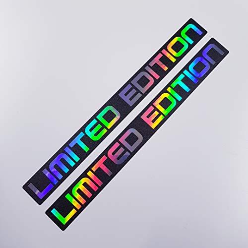 2 Aufkleber Set Limited Edition Metallic Effekt Hologramm Oilslick Rainbow Flip Flop Shocker Hand Auto Aufkleber JDM Tuning OEM Dub Decal Stickerbomb Bombing Sticker Illest Dapper Fun Oldschool
