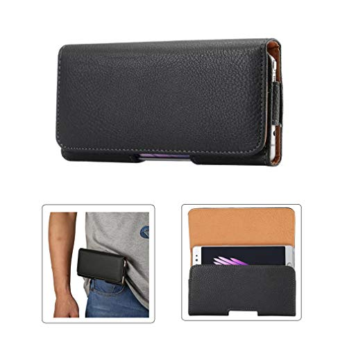 Horizontal Cell Phone Belt Clip/Loop Holster Case Pouch for iPhone 11 Pro X XS 8, Galaxy S10e S9 S8 S7 A10e J2 J3, LG Rebel 4 Q7+ Q6 G6 K8 K7,Google Pixel 3/2, BLU Studio X8 HD A5 Energy,Moto G7 Play