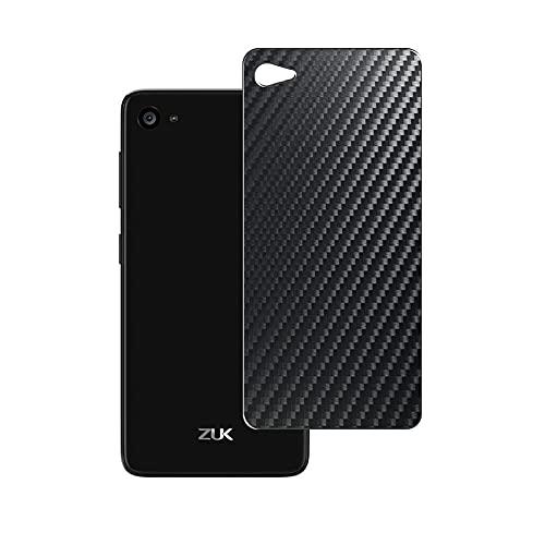Vaxson 2 Unidades Protector de pantalla Posterior, compatible con Lenovo ZUK Z2, Película Protectora Espalda Skin Cover - Fibra de Carbono Negro