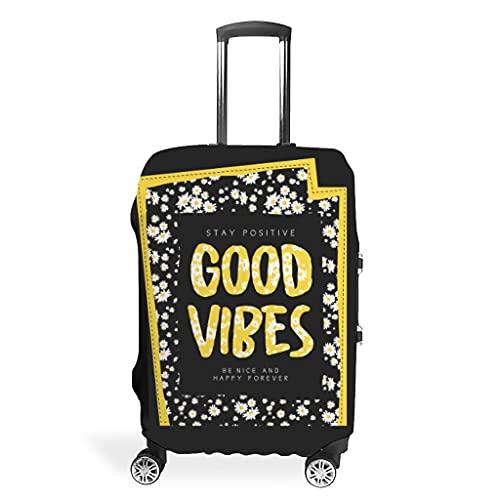 Funda protectora para maleta con buen estado de ánimo, diseño de margaritas