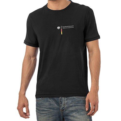 Texlab Heren Plezier kostuum BUNDEBÜTZENAMT tennisbeamter carnaval T-shirt, zwart, L