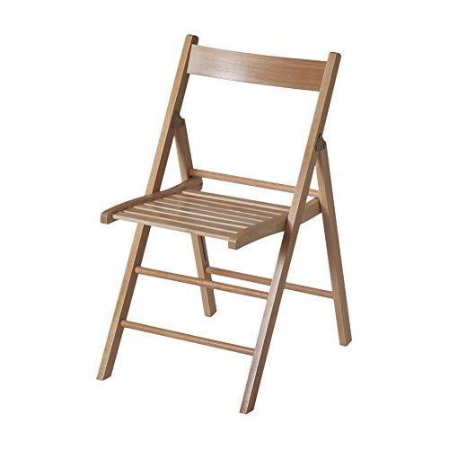 Eurosilla Bas - Silla plegable de madera para uso interior, 76 x...