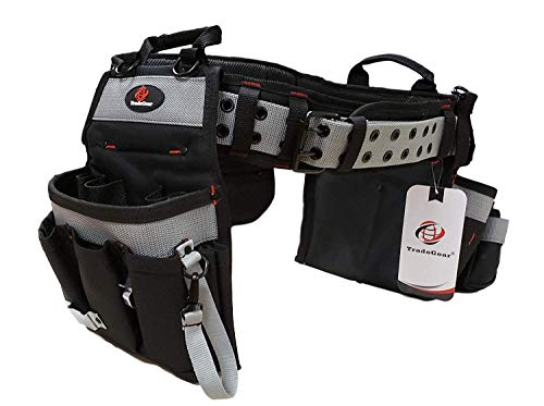 TradeGear PART#SZA Electrician's Belt & Bag Combo - Heavy Duty Electricians Tool Belt Designed for Maximum Comfort & Durability - Ideal for All Electricians Tools - Fits Sizes S - L (26'-40')