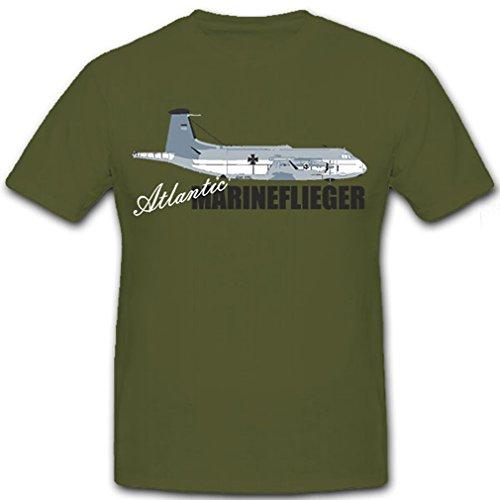 Atlantic Marineflieger-Bundeswehr Flugzeug Aufklährer - T Shirt #8904, Farbe:Oliv, Größe:Herren XXL