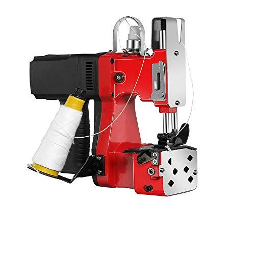 MXBAOHENG Maquinas de Coser Sacos 220V Maquina de Coser Lonas con Función Línea de Corte Automática para Coser/Sellar Bolsas(Rojo)