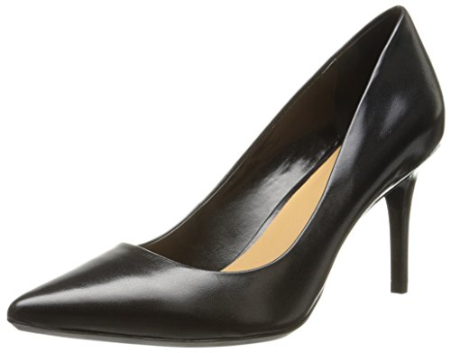 Calvin Klein Womens Gayle Pump, Black Leather - 7.5 B(M) US