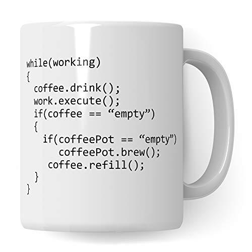 Pagma Druck Informatiker Tasse, Code Mug IT Informatiker Geschenke lustig, Programmierer Becher Debugging Spruch Programmieren Informatik Geschenkidee, Entwickler Developer Kaffeetasse