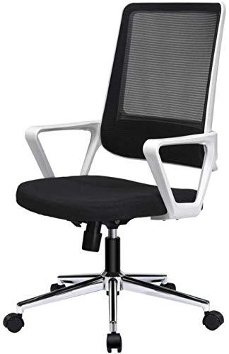 HZYDD Ergonomischer Computerstuhl mit Armlehnen for Home Office Comfort gepolsterte Schreibtischstuhl, weiß, weiß, Farbname: weiß (Color : White)