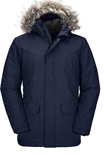 Mordenmiss Men's French Woolen Coat Business Down Jacket Trench Topcoat Fleece Gray M