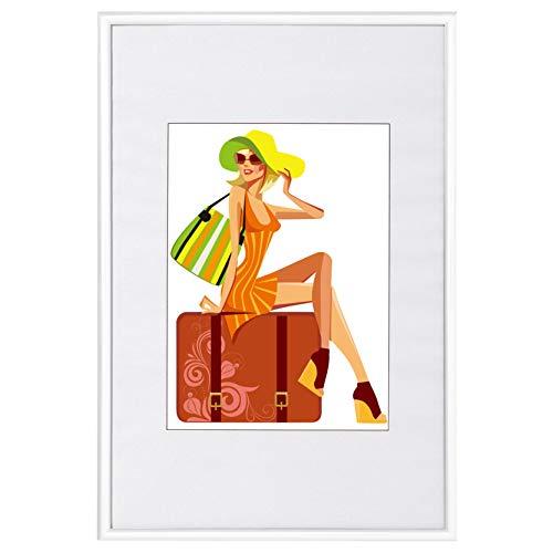 WOLTU #315 Bilderrahmen Bildergalerie Fotogalerie, Foto Collage Galerie, Kunststoff und Echtglas, New Life Style, Weiss, 15x20 cm