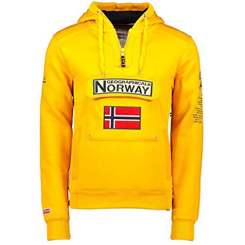 Geographical Norway Gymclass - Sudadera con Capucha para Hombre (XXXL, Amarillo)