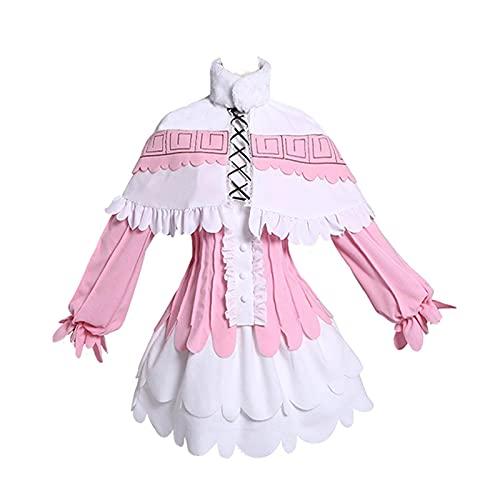 ULLAA Disfraz de Cosplay Masquerade Miss Kobayashi Dragon Maid KannaKamui Anime Maid Delantal Vestido Trajes L Rosa conjunto completo