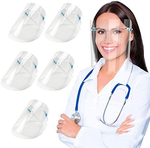 5 uds., Visera de estilo para gafas, capa transparente antivaho, cubierta antipolvo de aire, protector de gafas reutilizable, cubierta protectora para la boca