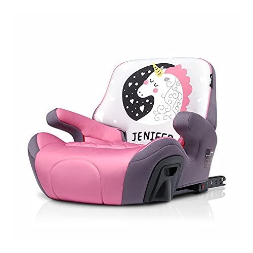 LIUCHUNYANSH Fundas para Asientos de Coche Asiento Elevador con el Sistema Latch, 3 En 1 arnés Booster Seat, (Color : Pink)