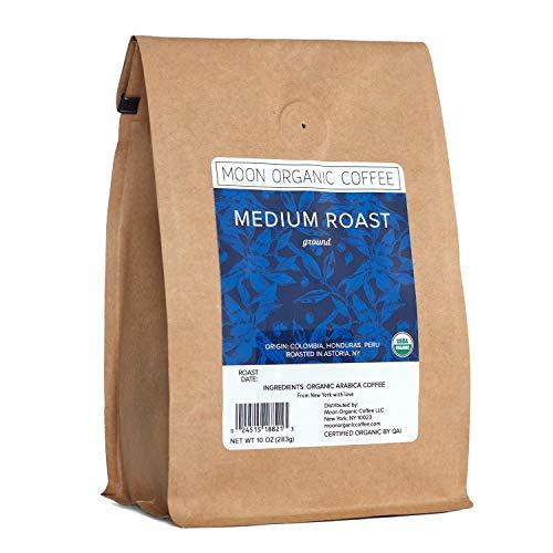 Moon Organic Coffee Medium Roast Ground Coffee 10 oz