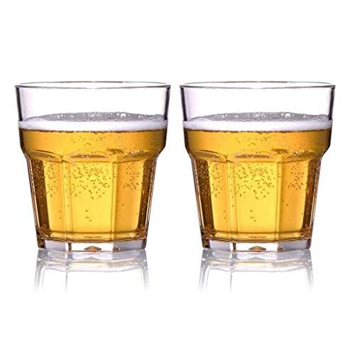 YZ-YUAN Tazas de Cerveza de plástico exquisitas, jarras de Cerveza de plástico de policarbonato Similar al Vidrio Resistentes a roturas y al Calor, Ideales para Fiestas, Eventos al Aire Libre y banq