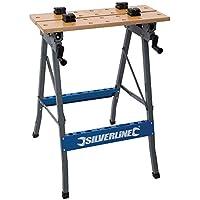 Silverline TB05 - Banco de trabajo resistente y plegable (150 kg)