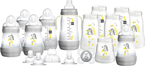 MAM Easy Start Anti-Colic Bottle Starter Set, Grey, Large ( Designs May Vary)