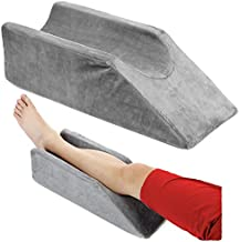 Leg Elevation Wedge Pillow Knee Foam for Sleeping Post Surgery Foot Leg Rest Pillows Knee Support Cushion Medical Elevated Pillow Leg Elevator Bed Positioning Wedge Ankle Surgery Recovery (50cm Long)