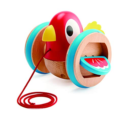 Hape Baby Bird Pull-Along | Wooden Wobbling & Flapping Pull Toddler Toy, Bright Colors