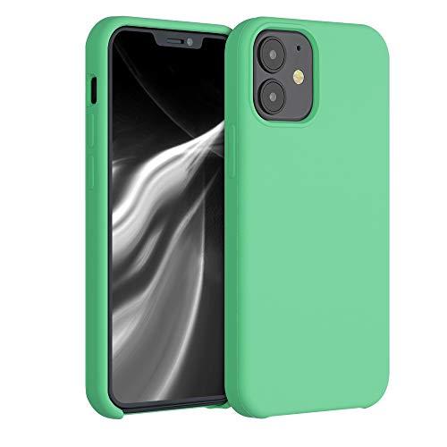 kwmobile Cover Compatibile con Apple iPhone 12 - Custodia in Silicone TPU - Back Case Protezione Cellulare Verde Menta