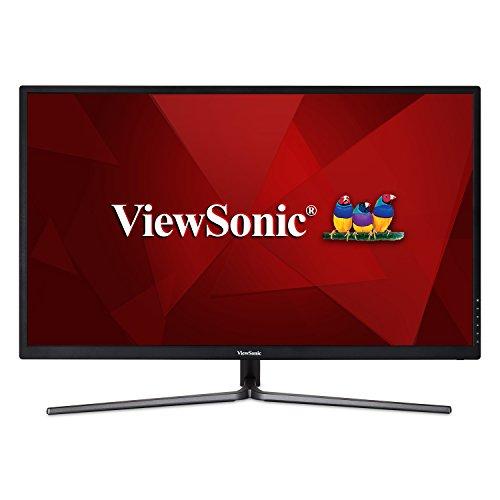 ViewSonic VX3211-2K-MHD 32 Inch IPS WQHD 1440p Monitor with 99% sRGB Color Coverage HDMI VGA and DisplayPort,Black