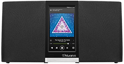 Aluratek AIRMM03F Wi-Fi Internet Radio Streaming Pandora, Slacker, iHeart, Spotify (Black), 4.3'